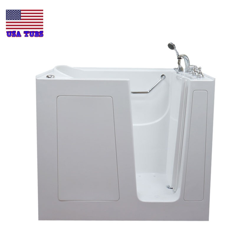 Care series 3055 soaker walk in tub for Walk in tub water capacity