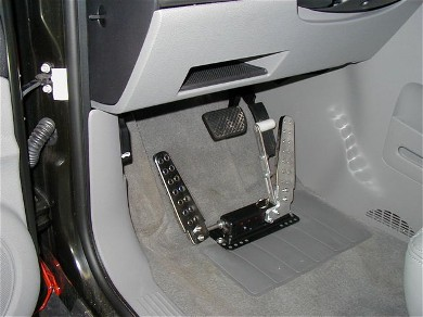 Necessary when right foot use is impossible or limited; Floor mount ...