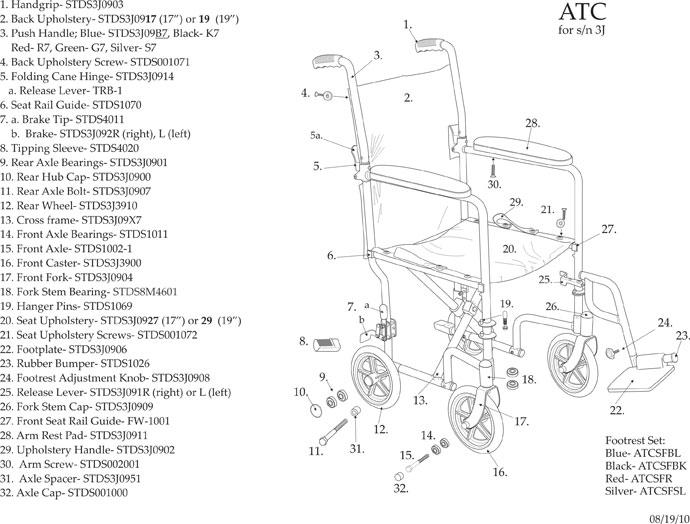 drive medical aluminum transport chair