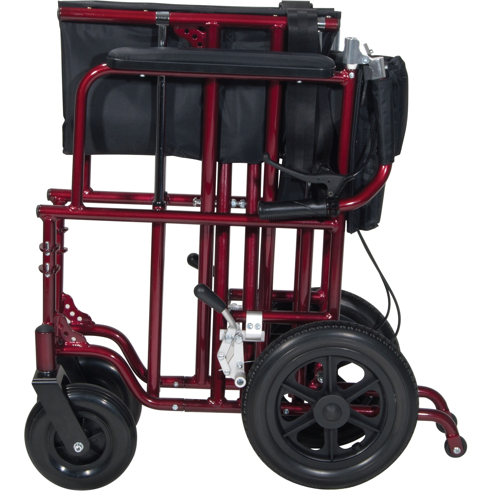 Drive Medical 22in Bariatric Aluminum Transport Chair With