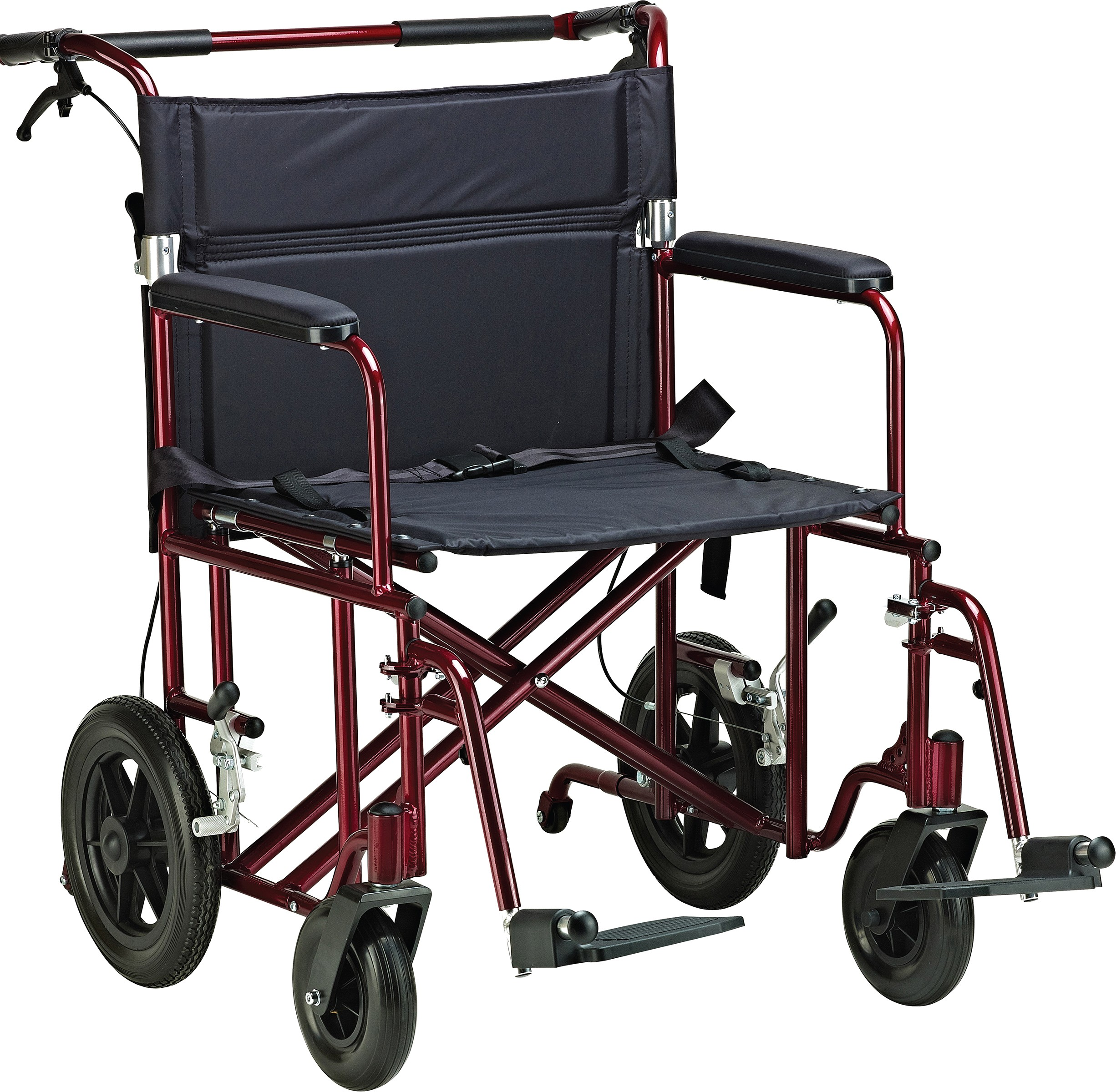 Transport Chair Replacement Wheels ... Bariatric Aluminum Transport Chair With 12in Rear Flat-Free Wheels