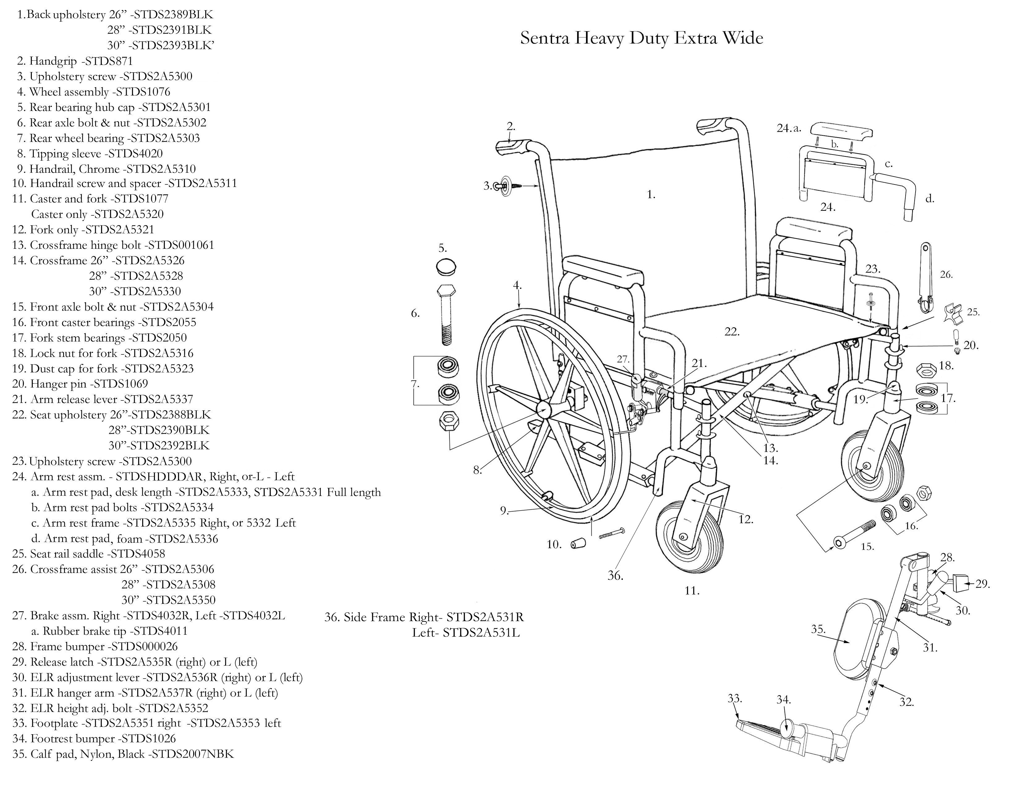 Drive Medical Deluxe Sentra Heavy Duty, Extra Extra Wide Bariatric  Wheelchair