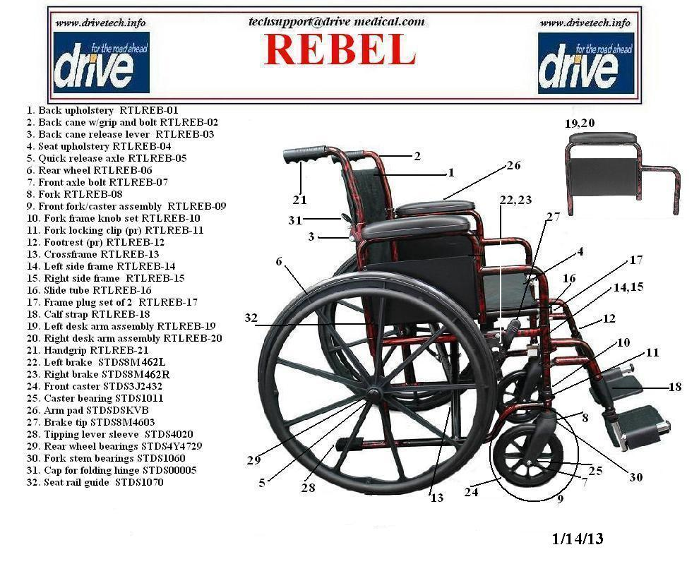 Drive Medical Rebel Wheelchair Single Axle