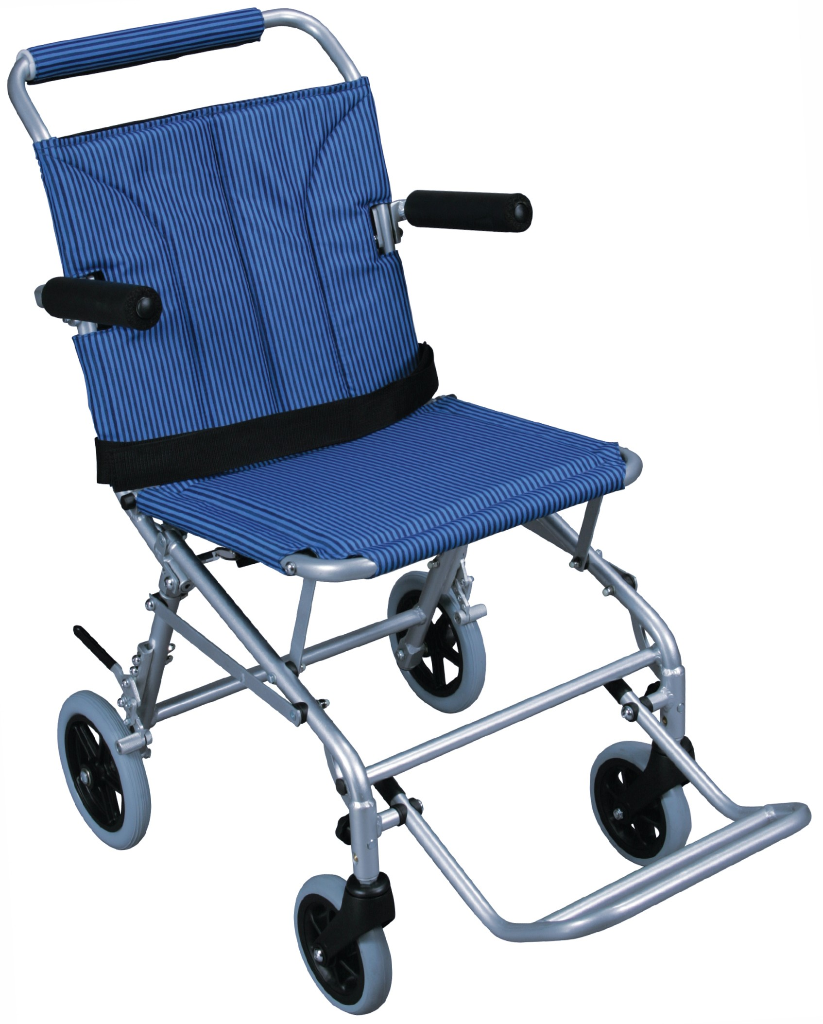 Drive Medical Super Light Folding Transport Chair with Carry Bag and Flip Ba