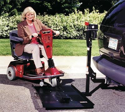 Burr mobile wheelchair scooter lift burr mobile lift for Motorized wheelchair lifts for cars