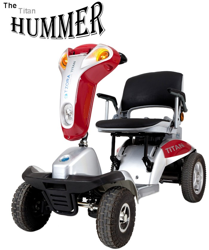 Hummer XL 4 Wheel Portable Mobility Scooter | 4 Wheel Tzora an on