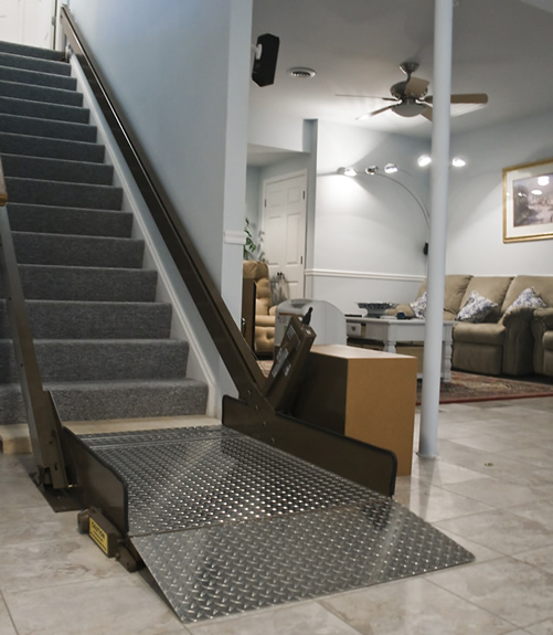 Butler mobility incline platform wheelchair lift for Wheelchair accessible houses